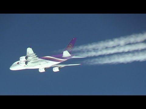 究極の機窓映像!!! ANAジャンボのラストフライトに突然現れたタイ航空のA380 JA8961 Boeing 747