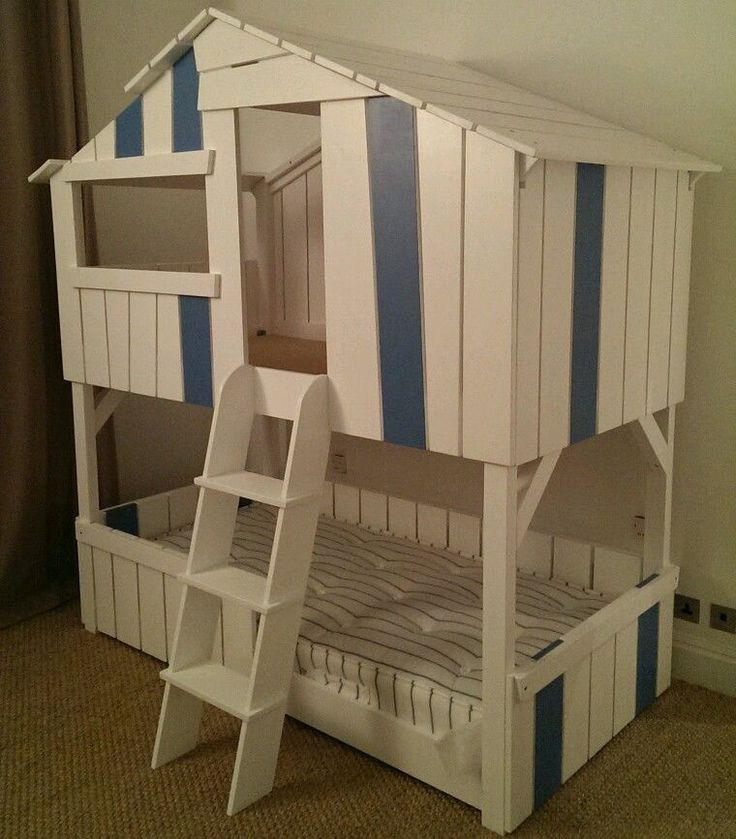 High Sleeper Cabin Tree House Bunk Bed Hand Made Painted Cuckoo Land Style In Home