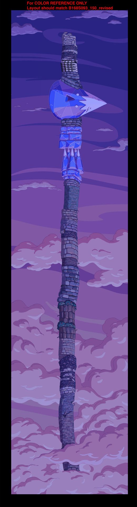 King of OOO - another section of Finn's tower from Adventure Time