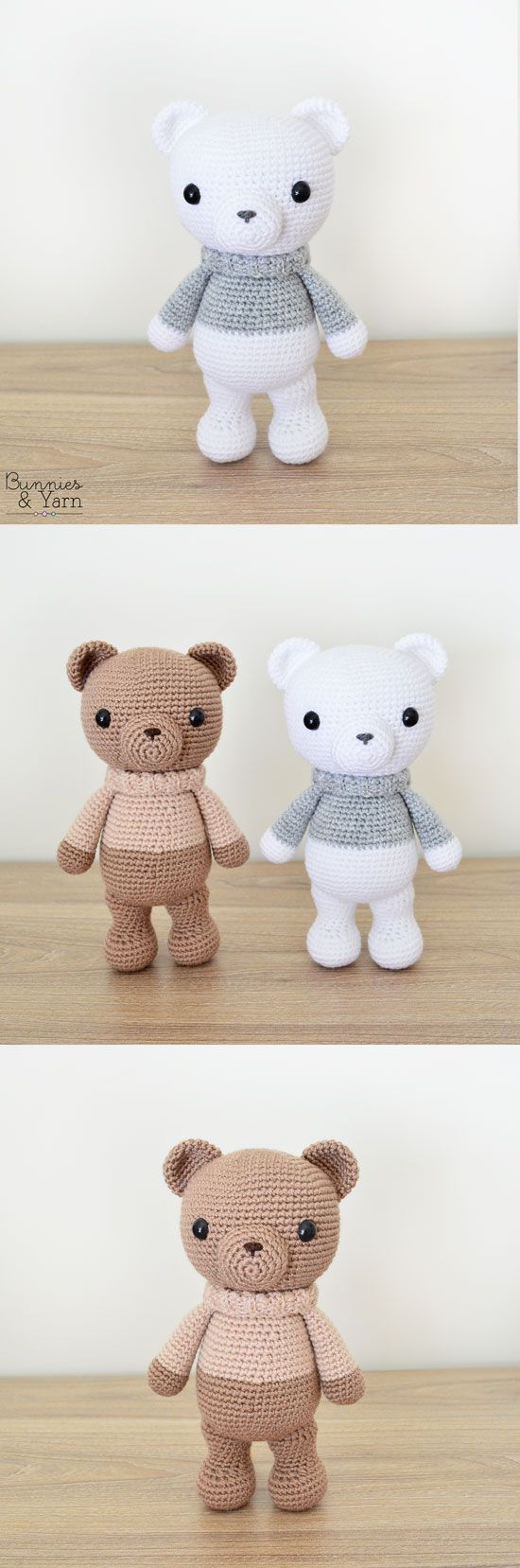 Crochet Pattern - Xander the Lovely Winter Bear - Amigurumi