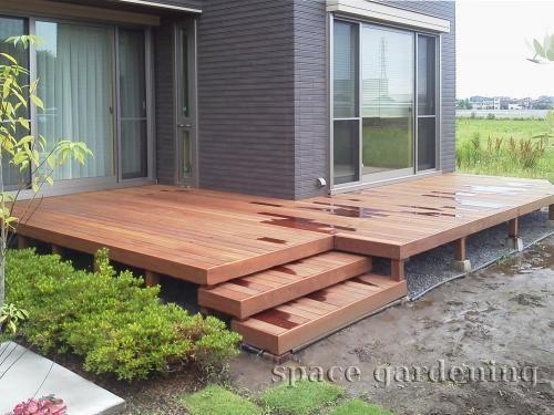 庭 ウッドデッキ 木製 ウリン材