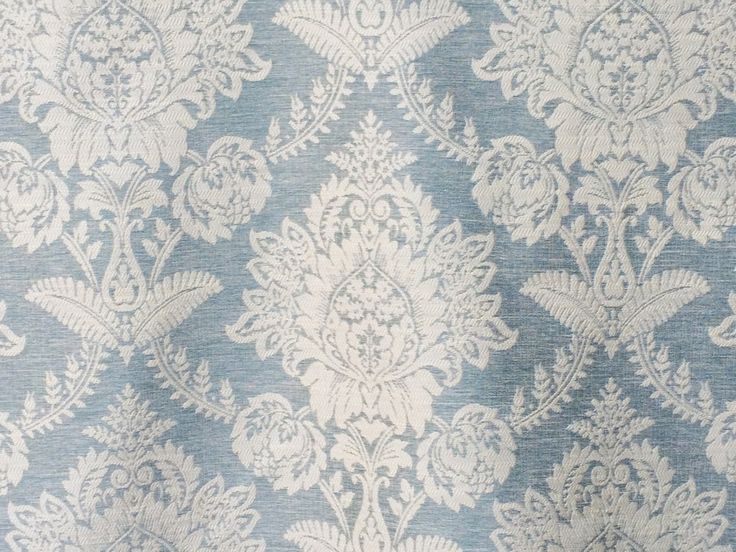Teal Blue Damask Curtain Fabric By The Yard Upholstery Fabric Drapery Fabric Window Treatment Fabric Sofa Fabric Floral Wholesale Fabric by…