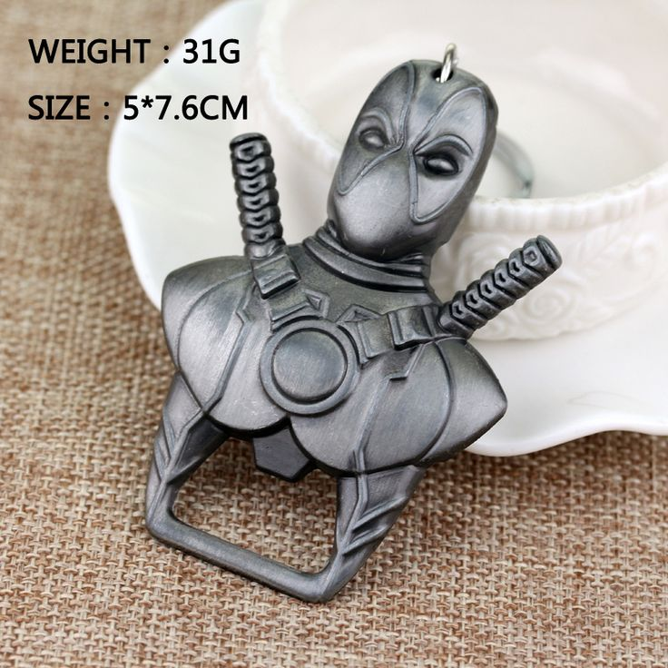 New Fashion Movie Keyring Marvel Comics Deadpool Keychain Cool Bottle Opener Pendant Key Chain 2 Colors 80pcs Free shipping