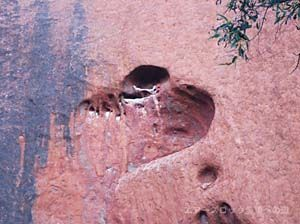 エアーズロック ムチジュルの泉、ウルルの心臓と言われるハート型の窪み
