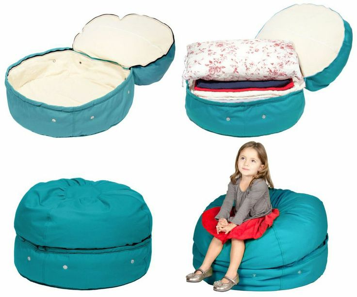The Battle To Win Toy Storage Wars Has A New Tool In Its Arsenal Meet Mimish Designs Beanbag Combination Chair Ottoman
