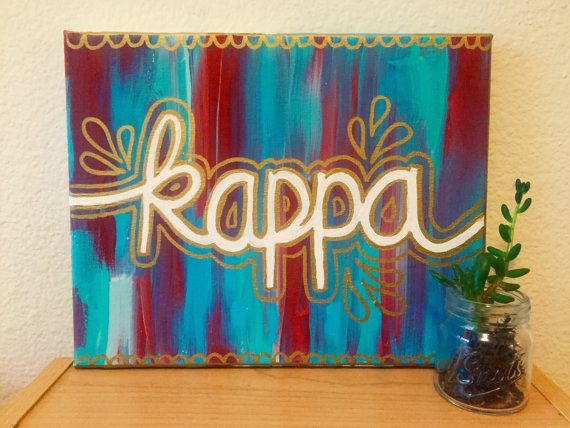Kappa Kappa Gamma Sorority Canvas Abstract by CaliCanvas on Etsy