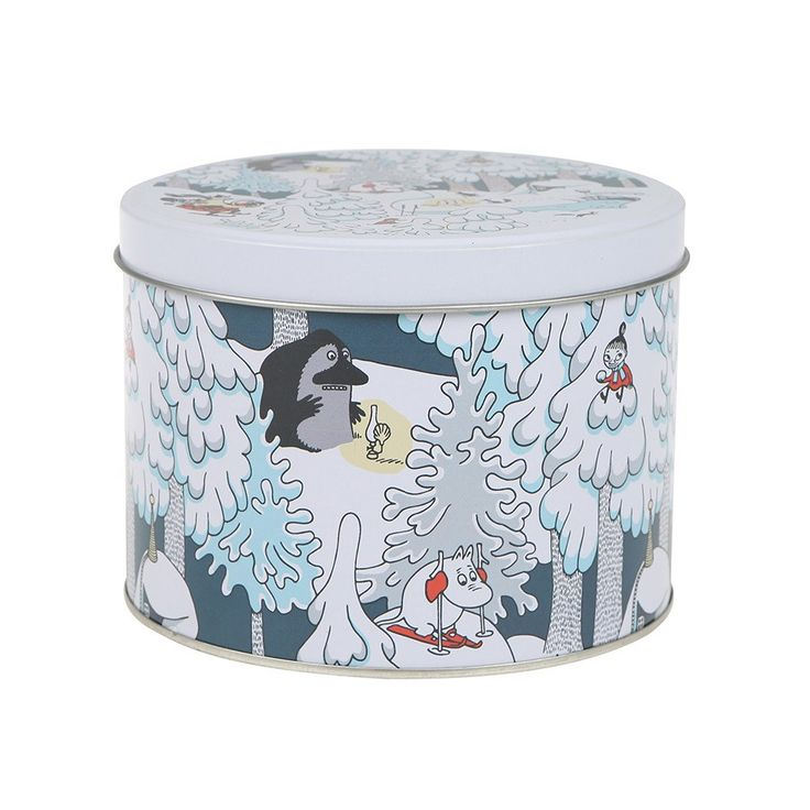 Moomin Winterland round jar - The Official Moomin Shop
