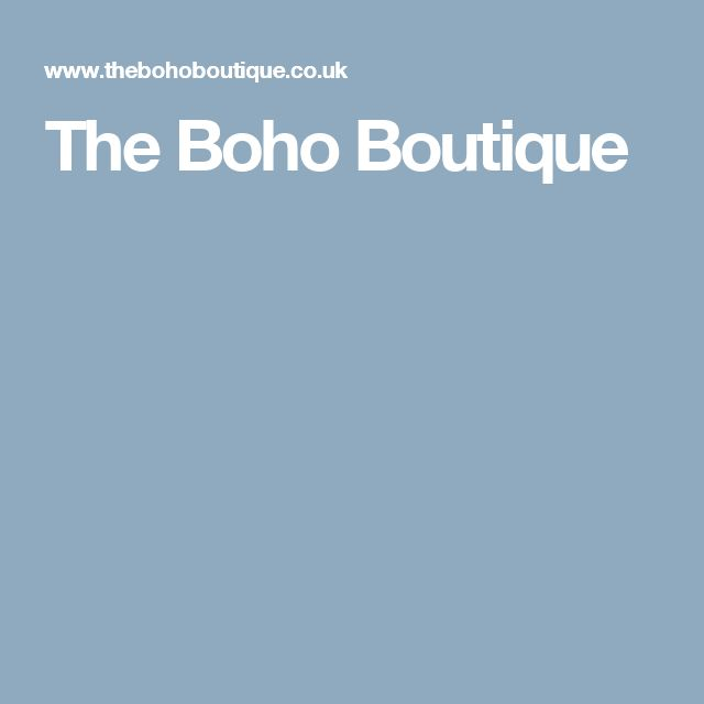 The Boho Boutique