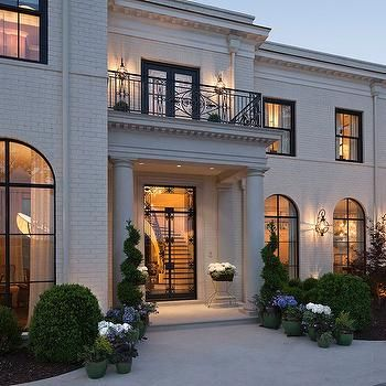 white brick home exterior transitional home exterior renaissance homes