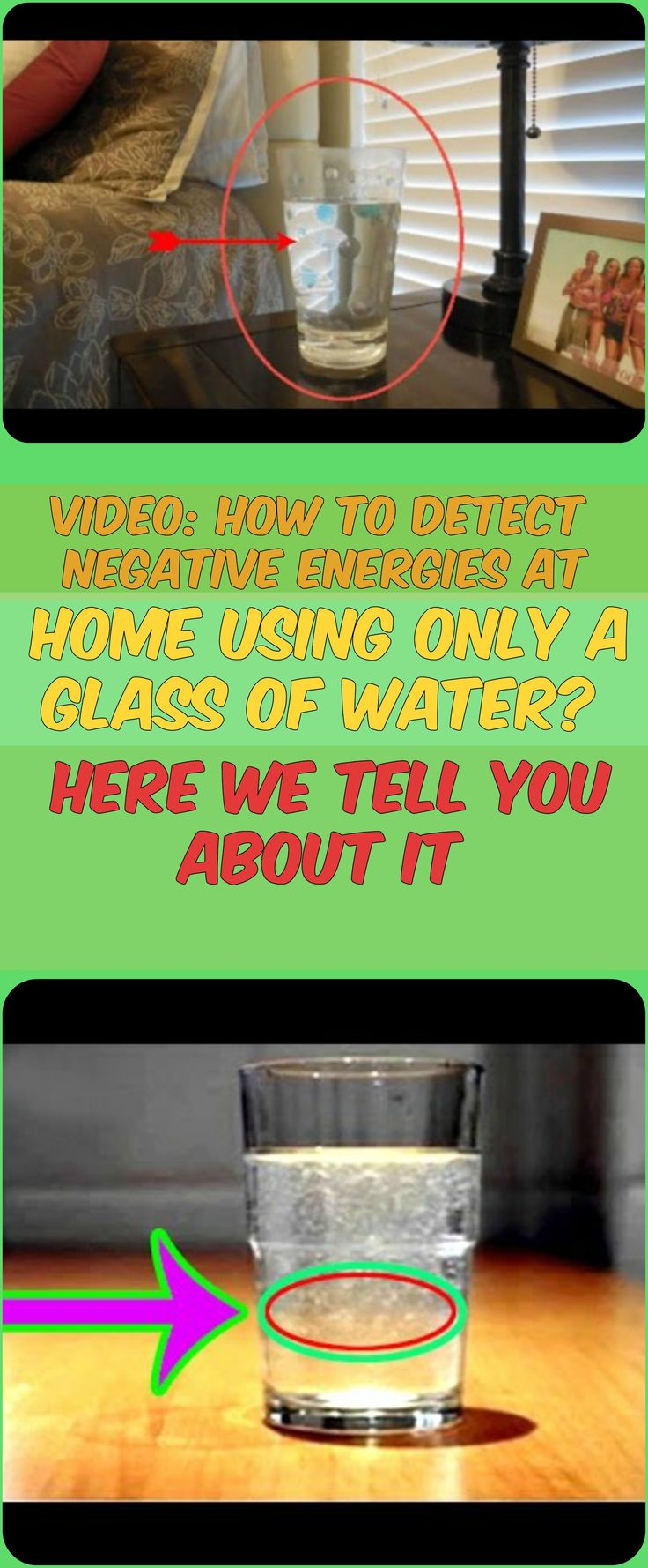 VIDEO: HOW TO DETECT NEGATIVE ENERGIES AT HOME USING ONLY A GLASS OF WATER? HERE WE TELL YOU ABOUT IT