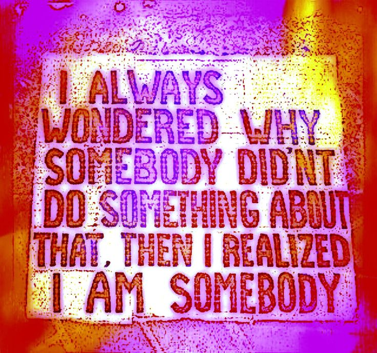I always wondered why somebody didn't do something about that, then I realised I am somebody