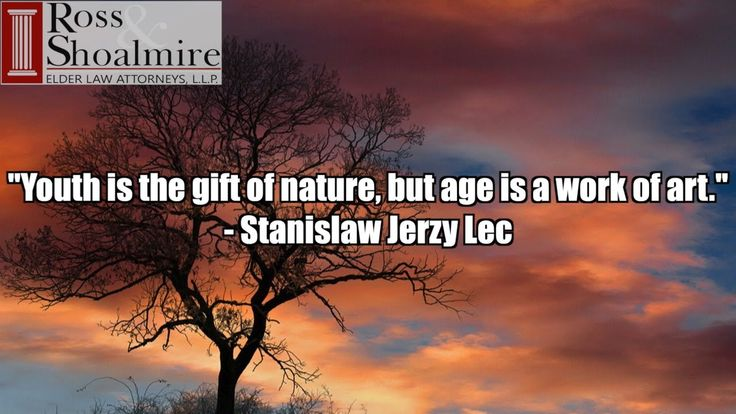 """""""Youth is the gift of nature, but age is a work of art."""" - Stanislaw Jerzy Lec  Make your retirement a masterpiece.  Contact Ross and Shoalmire LLP for a free consultation:  9032235653  http://txaust.in/rs-free-consultation"""