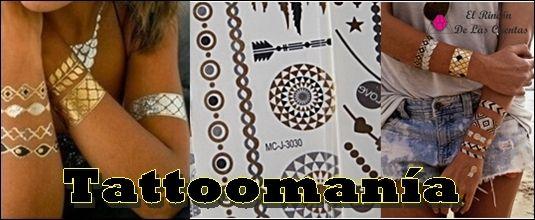 Tattoos temporales metálicos. Otra forma de lucir bisutería de manera original y sorprendente. www.elrincondelascuentas.com