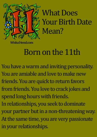 What Does Your Birth Date Mean?- Born on the 11th