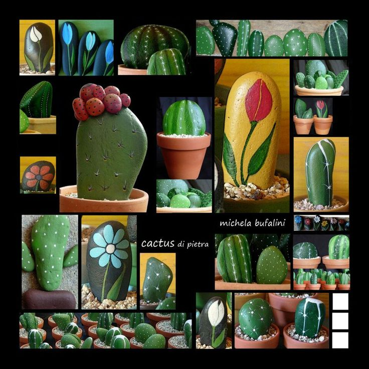 Love the cactus idea for outside deck/patio!