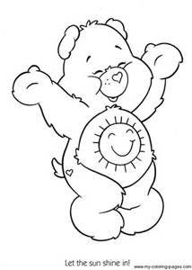 care bears sunshine bear coloring printable page - Sunshine Coloring Pages Printable