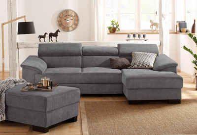 Home affaire Polsterecke »Mika«, wahlweise mit Bettfunktion    #couch #sofa #ecksofa #polsterecke #wohnzimmer #inspo #interior #einrichtung #polstermöbel #möbel #schlafsofa #homeaffaire