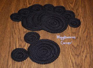 CraftyMamaFun: Crocheted Mouse Coaster Pattern