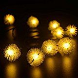 Tueenhuge Outdoor String Lights Solar Christmas Chuzzle Ball Lights 20 Led Fairy Light for Garden Patio Lawn... christmas deals week
