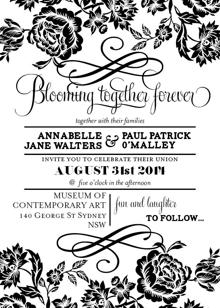 The 25 best Modern wedding invitation wording ideas – Black and White Wedding Invitations Templates