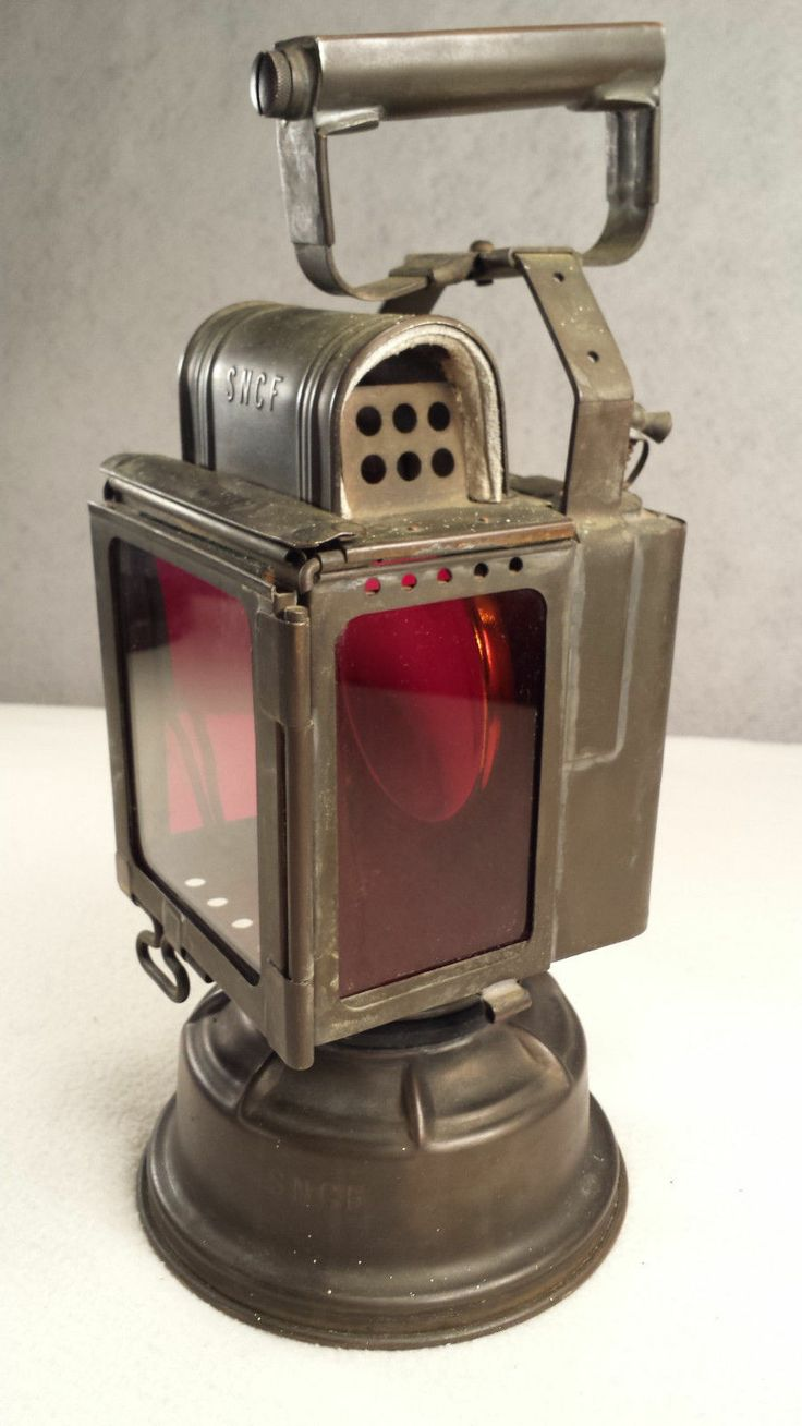 Vintage French Sncf Railroad Safety Lantern Vgc Super Cool