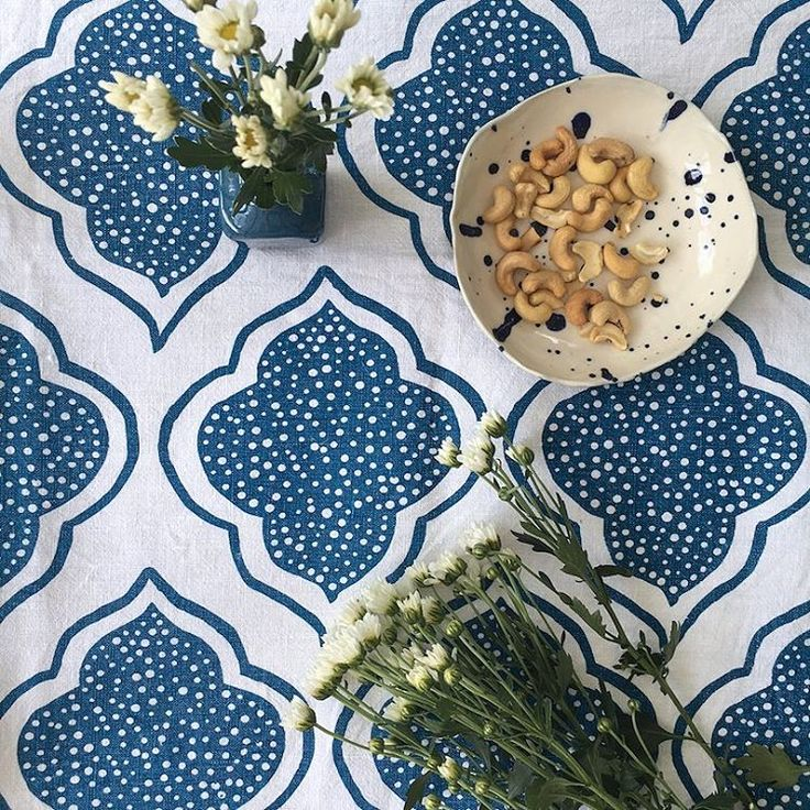 """95 Likes, 5 Comments - Aqua door Designs (@aquadoordesigns) on Instagram: """"My Navy blue Lanterns tablecloth - frequently used, seldom ironed and still looking good…"""""""