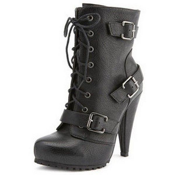 17 Best ideas about High Heel Combat Boots on Pinterest   High ...