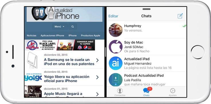 Cómo activar Split View en el iPhone con Jailbreak - http://www.actualidadiphone.com/como-activar-split-view-en-el-iphone-con-jailbreak/
