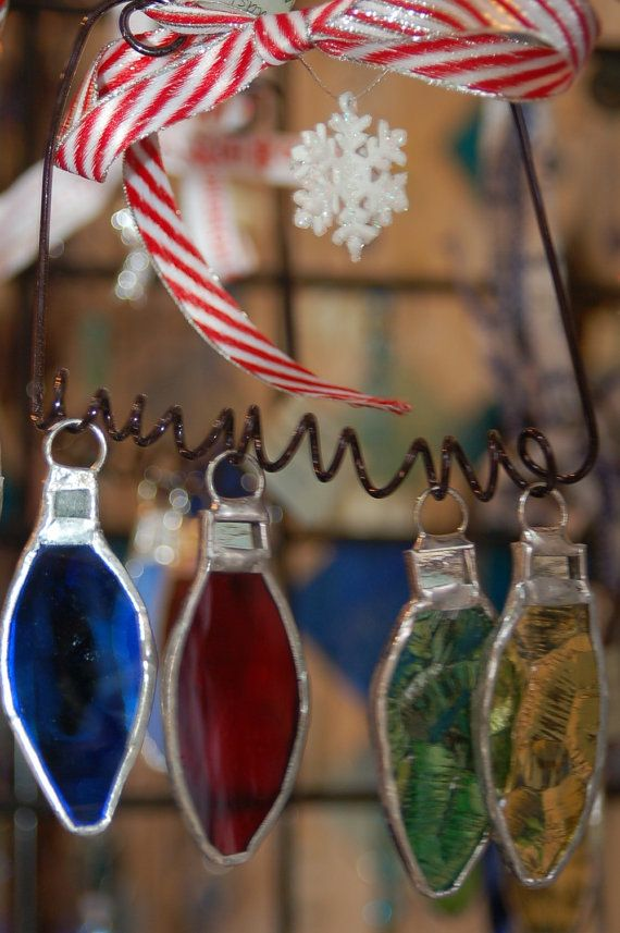 Old Fashioned Glass Christmas Ornaments Part - 19: Stained Glass Ornament Lights Old Fashioned By DianeMarieArt, $20.00.  Stained Glass OrnamentsStained Glass ChristmasChristmas ...