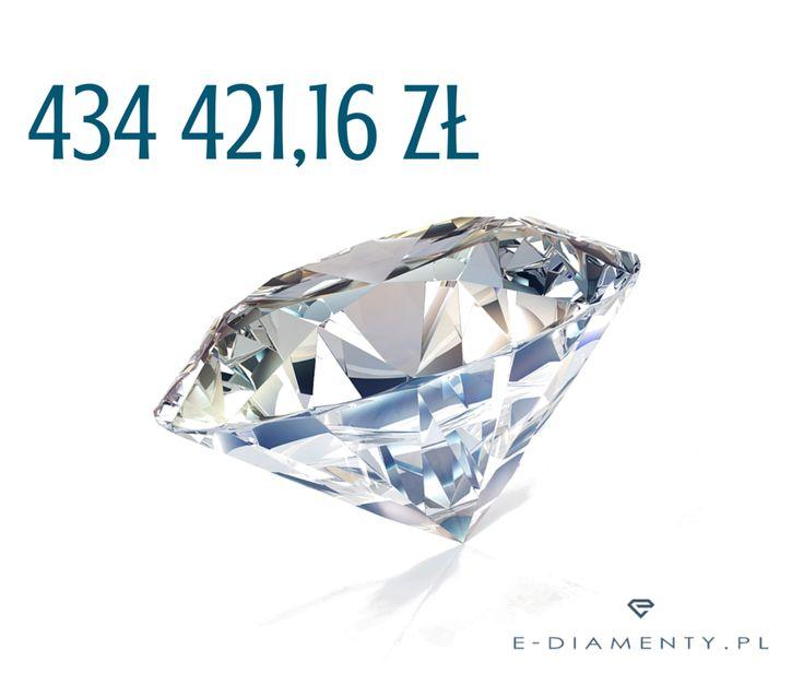 Diament o masie 3.40 ct, barwie F i czystości IF. Szlif, symetria i polerowanie - doskonałe! Dostępny na zamówienie, czas realizacji: 3 dni. 💎  http://allegro.pl/hurt-e-diamenty-diament-brylant-3-40ct-f-if-igi-i6316536027.html