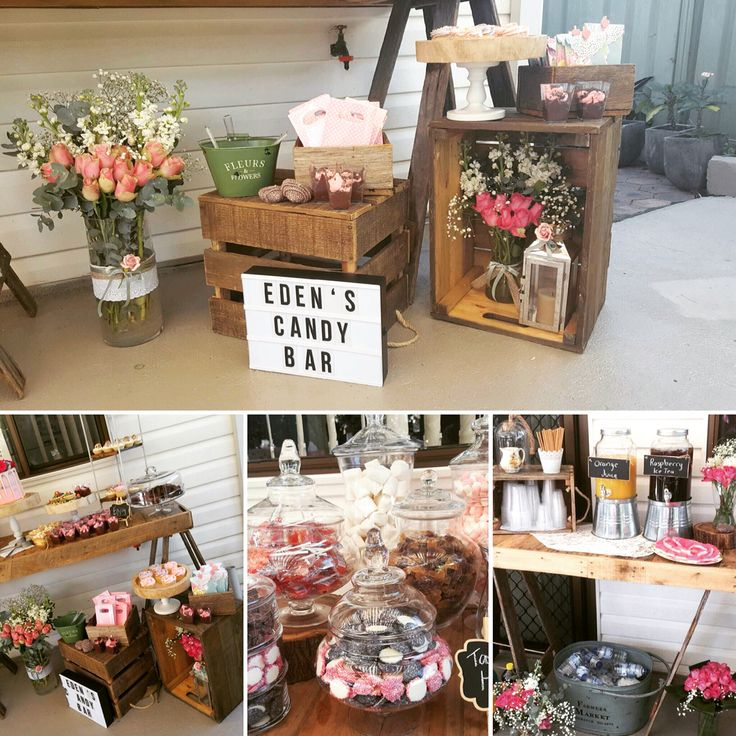 #rusticprops #desserttable #crates #timbertrestle #caketable