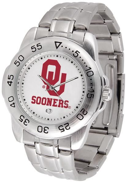 Oklahoma Sooners Sport Steel Watch