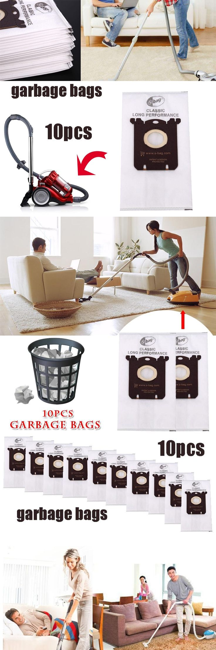 10 Pcs Cloth Dust Bags For Electrolux Vacuum Cleaner Dust Collector Household Cleaning