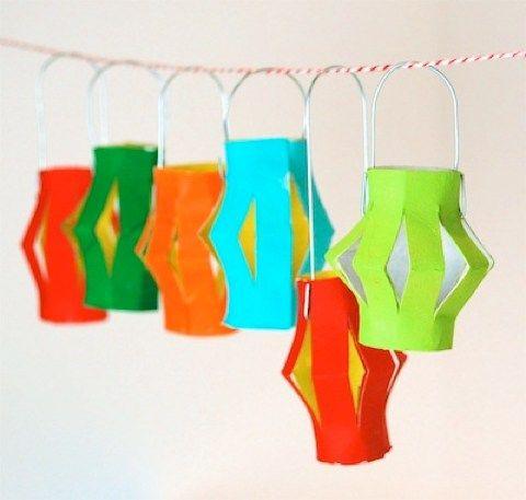 toilet paper tube lanterns