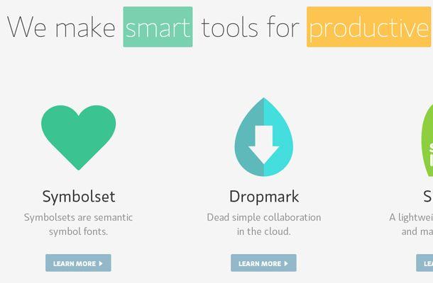 simple flat smart website layout design