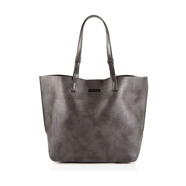 Superdry Olivia Tote Bag ($55) ❤ liked on Polyvore featuring bags, handbags, tote bags, grey, purse tote, man bag, grey tote, grey purse and tote handbags