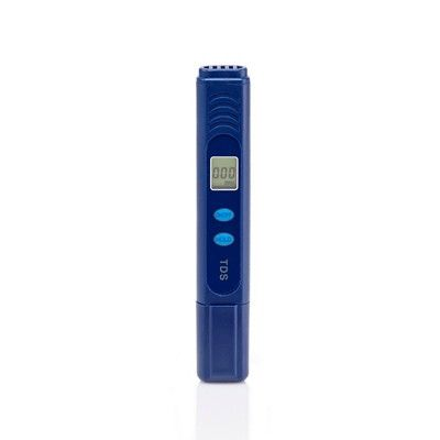 ZeroWater 7 Cup Ready Pour Pitcher with Free Tds Meter (Total Dissolved Solids), Blue