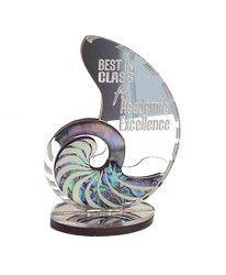 Mirror and Paua Nautilus Trophy - trophy, nautilus, new, zealand, mirror, paua, ... - Shopenzed.com