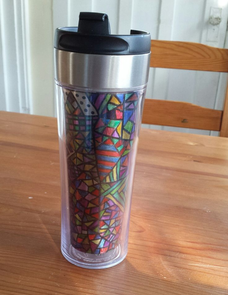 Sharpie pens + Starbucks mug = Doodle Mug!