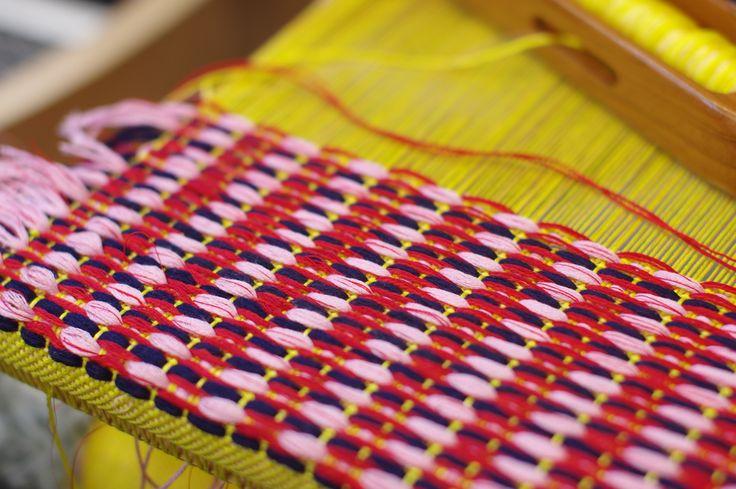 Daisy Watt - RMIT Textile Design. Hand weaving.