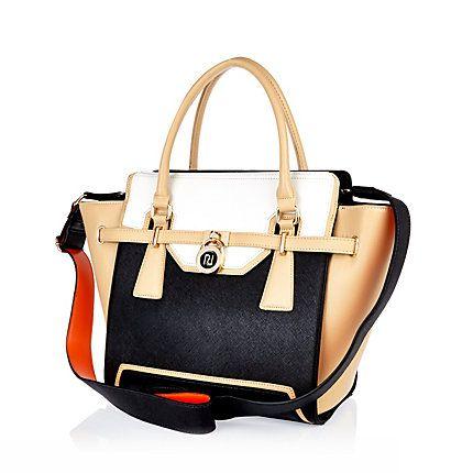 Black colour block padlock tote bag £45.00 #SpiritOfSummer
