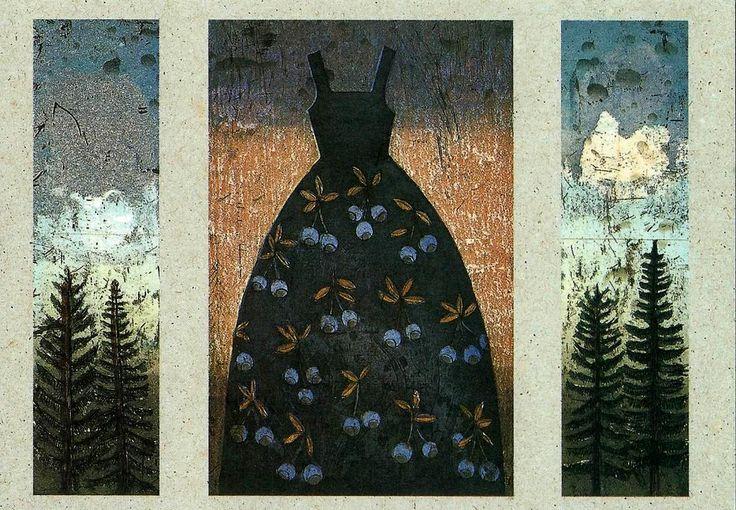 Kirsi Neuvonen, Mustikkapuku, 2001, 30x10/20/10 cm, etsaus, akvatinta-kopiosyövytys.