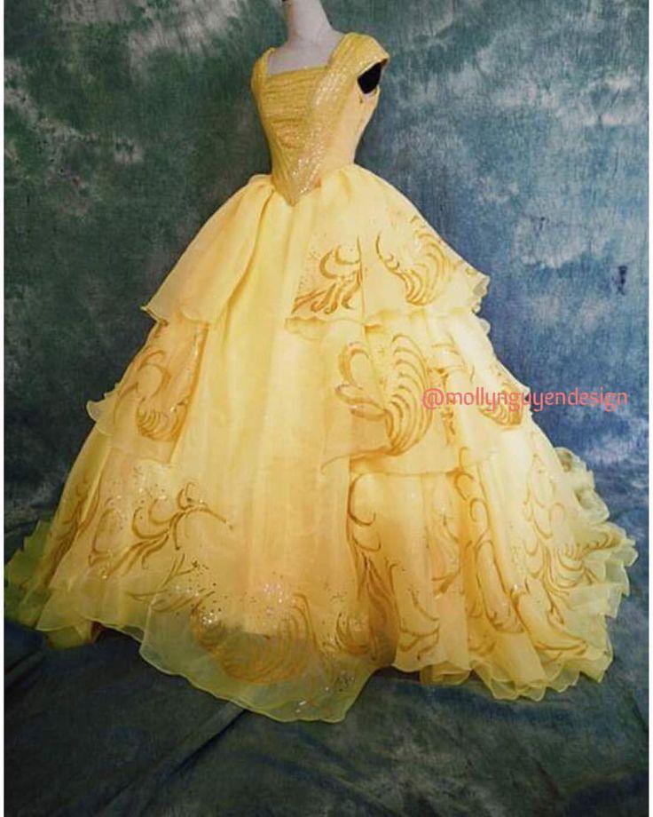 Beautiful princess belle dress