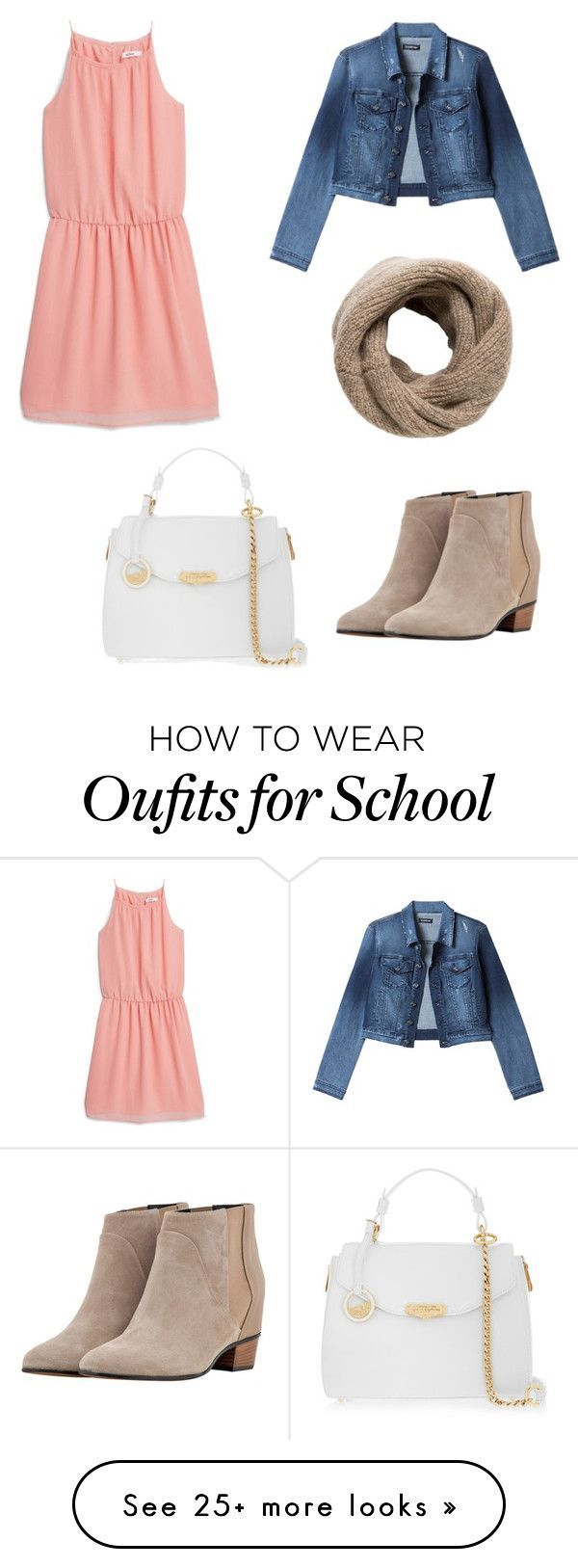 """""""McKenna back to school outfit"""" by ssarbearxo on Polyvore featuring MANGO, Bebe, Augusta and Versace. - shop for womens shoes, fashion womens shoes, womens online shoes"""