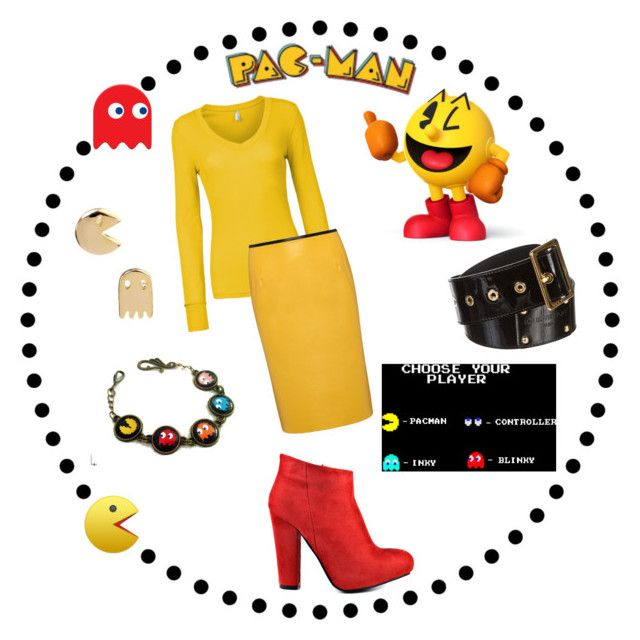 """""""Pac-Man"""" by audreye ❤ liked on Polyvore featuring Nintendo, Retrò, Diba, Louis Vuitton, LE3NO, Svek and pacman"""