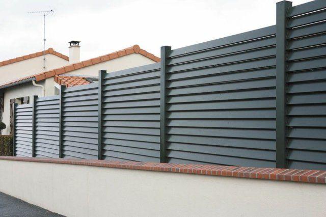 cloture de jardin sur muret en alu Valence de Sib