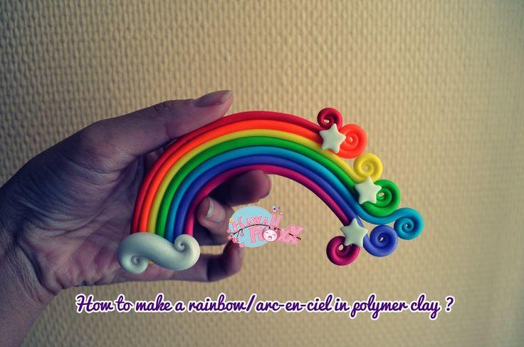 How to make a rainbow/Arc-en-ciel in polymer clay?