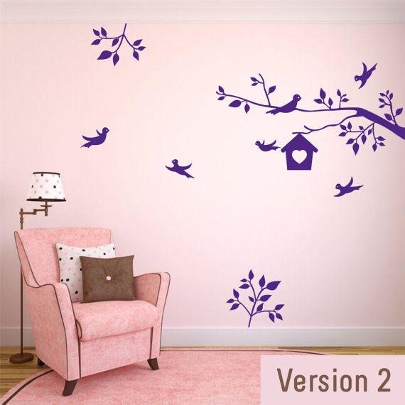 Best Room Wall Decals Images On Pinterest Wall Decals - Wall decals birdsbirds couple on branch wall decal beautiful bird vinyl sticker