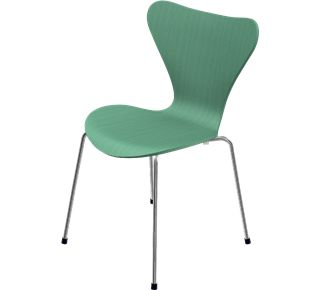 da aggiungere  un paio in cucina, in verde o blu. 3107 - No upholstery, Coloured Ash (Lazur), Black, 3107 Base, Chromed Steel