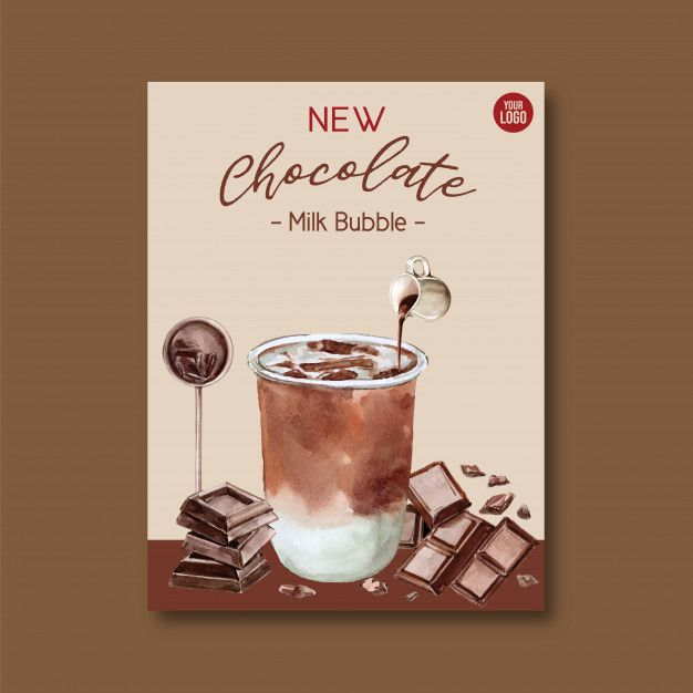 Download Chocolate Bubble Milk Tea Set, Poster Ad, Flyer ...